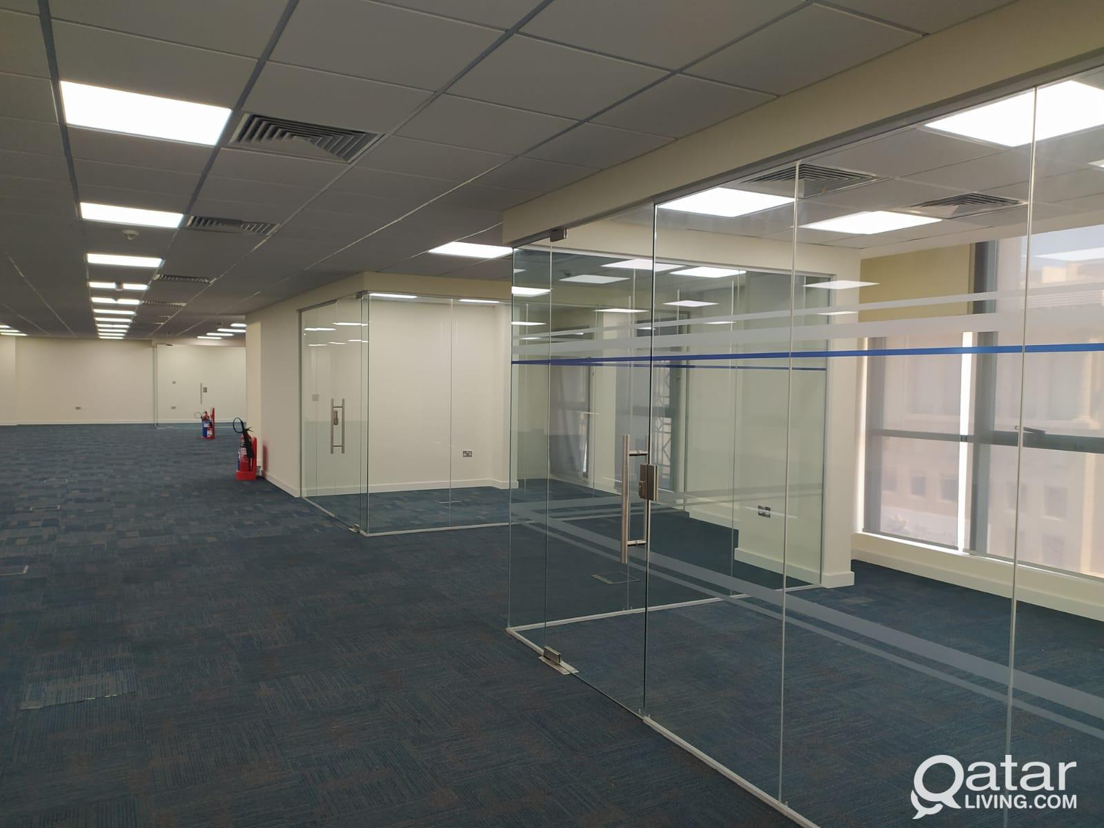 235 Sqm Glass Partitioned Office Space Available i